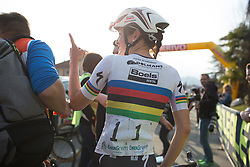 Lizzie Armitstead (Boels-Dolmans Cycling Team) enjoys another win at the Trofeo Alfredo Binda - a 123.3km road race from Gavirate to Cittiglio on March 20th 2016.