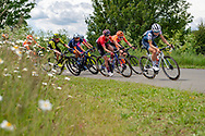 Lizzie Deignan (GBR) (right) riding for Trek-Segafredo during Stage 2 of the OVO Energy Women's Tour 2019 at Cyclopark, Gravesend, United Kingdom on 11 June 2019.