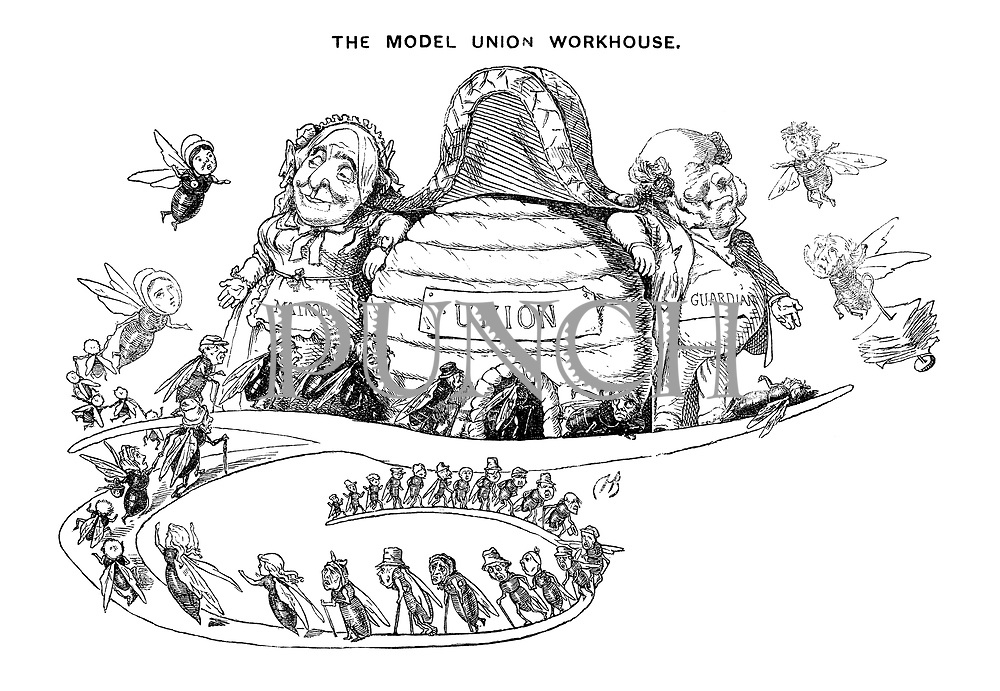 """The Model Union Workhouse (Illustrated capital """"T"""")"""