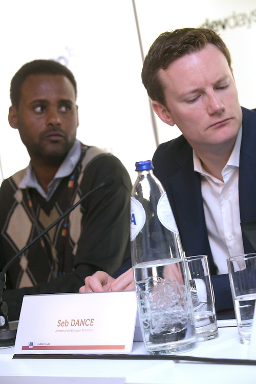 03 June 2015 - Belgium - Brussels - European Development Days - EDD - Food - Small-scale farming and sustainable food systems - Seb Dance , Member of the European Parliament (SandD) - Jima Gobena<br /> Project coordinator, Vicariate of Meki, Ethiopia © European Union