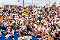 16/01/21 - Auckland (NZL)36th America's Cup presented by PradaPRADA Cup 2021 - DocksideSpectators at the AC Race Village