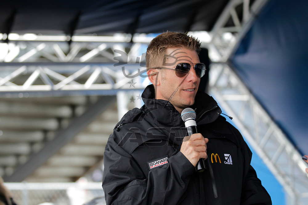 October 29, 2017 - Martinsville, Virginia, USA: Jamie McMurray (1) makes an appearance at the First Data display before the First Data 500 at Martinsville Speedway in Martinsville, Virginia.