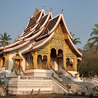 """""""Haw Pha Bang"""", also known as """"Wat Ho Pha Bang"""" is a temple, located in the royal palace complex. The temple was primarily built to enshrine """"Phra Bang"""" the most famous Buddha image in Laos."""