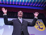 © Licensed to London News Pictures. 28/02/2015. Margate, UK. Nigel Farage at the second day of the conference.  The UKIP spring conference at Margate Winter Gardens 28th February 2015. Photo credit : Stephen Simpson/LNP