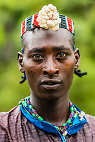 Bana tribe man,  Omo  Valley,  Southern Nations Nationalities and People's Region, Ethiopia.