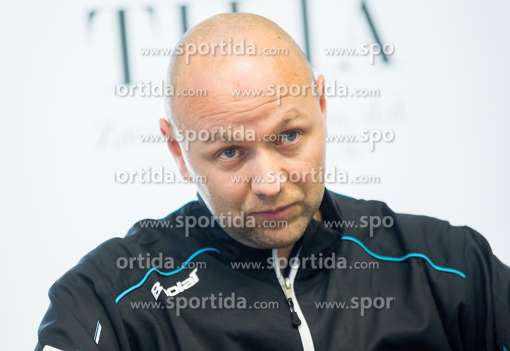 Andrej Krasevec during press conference of Slovenian women Tennis team before Fed Cup tournament in Tallinn, Estonia, on January 28, 2015 in Kristalna palaca, Ljubljana, Slovenia. Photo by Vid Ponikvar / Sportida