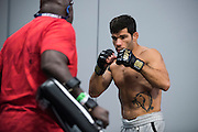 LAS VEGAS, NV - JULY 9:  Raphael Assuncao warms up in the locker room before UFC 200 at T-Mobile Arena on July 9, 2016 in Las Vegas, Nevada. (Photo by Cooper Neill/Zuffa LLC/Zuffa LLC via Getty Images) *** Local Caption *** Raphael Assuncao