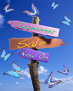 Summer sale now on sign