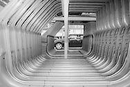 Door frames at MINI Car factory in Oxford, England, UK.