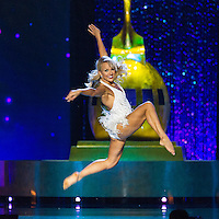 Miss Arkansas Savvy Shields performs on stage in the  2017 Miss America competition in Boardwalk Hall, Atlantic City, NJ