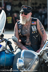 Fugarwe Tribe members at Cole Slaw wrestling day at the Cabbage Patch during Daytona Beach Bike Week 2015. FL, USA. Wednesday, March 11, 2015.  Photography ©2015 Michael Lichter.