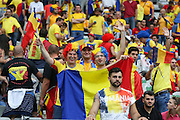 Romania fans  during the Group A Euro 2016 match between France and Romania at the Stade de France, Saint-Denis, Paris, France on 10 June 2016. Photo by Phil Duncan.