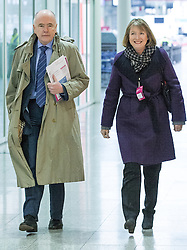 "© Licensed to London News Pictures . 01/03/2014 . London , UK . Jack Dromey and Harriet Harman arrive ahead of the conference . The Labour Party hold a one day "" Special Conference "" at the Excel Centre in London today (Saturday 1st March 2014) . Photo credit : Joel Goodman/LNP"