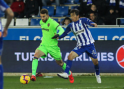 February 11, 2019 - Vitoria, Alava, Spain - Mayoral of Levante and Inui of Alaves in action during La Liga Spanish championship, , football match between Alaves and Levante, February 11th, in Mendizorroza Stadium in Vitoria, Spain. (Credit Image: © AFP7 via ZUMA Wire)