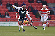 Nadjim Abdou of Millwall FC crosse ball  during the Sky Bet League 1 match between Doncaster Rovers and Millwall at the Keepmoat Stadium, Doncaster, England on 27 February 2016. Photo by Ian Lyall.