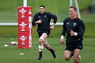 Seb Davies, the Wales rugby player  (l) during the Wales rugby team training session at the Vale Resort Hotel in Hensol, near Cardiff , South Wales on Thursday  16th November 2017.  the team are preparing for their Autumn International series match against Georgia this weekend.   pic by Andrew Orchard