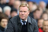 Football - 2017 / 2018 Premier League - Everton vs. Arsenal<br /> <br /> Everton manager Ronald Koeman at Goodison Park.<br /> <br /> COLORSPORT