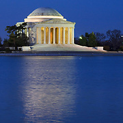 Jefferson Memorial in Washington DC before sunrise