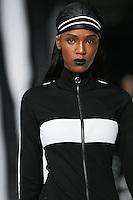 Leila Nda walks the runway wearing PUMA x FENTY by Rihanna Fall 2016 during New York Fashion Week on February 12, 2016