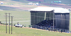 QUNU, Dec. 15, 2013  The site of Nelson Mandela's funeral is seen in Qunu, Eastern Cape of South Africa, Dec. 15, 2013. Nelson Mandela's funeral service ends in his ancestral village of Qunu in Eastern Cape on Sunday. He was buried next to his relatives as he wished in Qunu, a small village, where Mandela spent most of years in his childhood. (Credit Image: © Meng Chenguang/Xinhua/ZUMAPRESS.com)