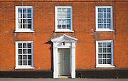 Facade of Georgian house on the Quay, Woodbridge, Suffolk, England