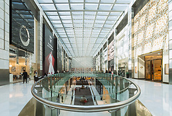 Interior of atrium at Fashion Avenue in Dubai United Arab Emirates