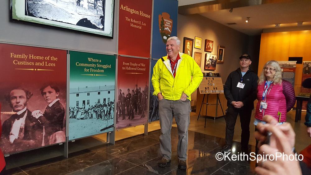 Honor Flight Network co-founder Earl Morse at The Women's Memorial, Washington DC.