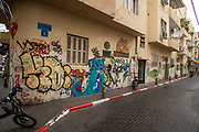 Graffiti wall art in Florentin neighbourhood, Tel Aviv