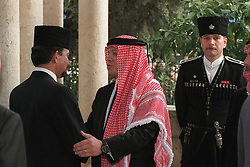 King Abdullah bin Al Hussein (right) receives condolences from Sultan of Brunei Hassanal Bolkiah during funeral in Amman, Jordan on February 8, 1999. Twenty years ago, end of January and early February 1999, the Kingdom of Jordan witnessed a change of power as the late King Hussein came back from the United States of America to change his Crown Prince, only two weeks before he passed away. Photo by Balkis Press/ABACAPRESS.COM