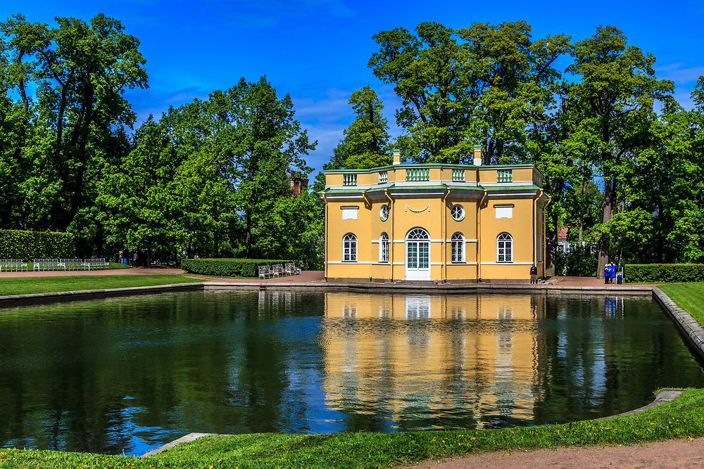 The Upper Bath pavilion of The Catherine Palace in the town of Tsarskoye Selo (Pushkin), Russia. It was destined for the members of the Imperial family, staying at the Grand Palace.