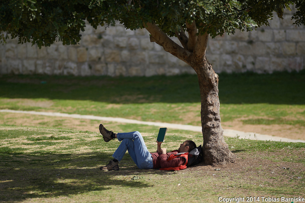 A special lunch break in Jerusalem, nearby the old town.