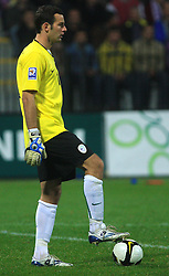 Goalkeeper of Slovenia Samir Handanovic (1) at the fourth round qualification game of 2010 FIFA WORLD CUP SOUTH AFRICA in Group 3 between Slovenia and Northern Ireland at Stadion Ljudski vrt, on October 11, 2008, in Maribor, Slovenia.  (Photo by Vid Ponikvar / Sportal Images)