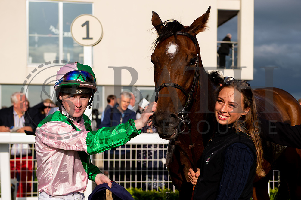 Miss Latin ridden by Dylan Hodge and trained by David Simcock in the Kingstone Press Apple Handicap (Value Rater Racing Club Bath Summer Stayers Series Qualifier) (Class 5) race.  - Ryan Hiscott/JMP - 17/08/2019 - PR - Bath Racecourse - Bath, England - Race Meeting at Bath Racecourse