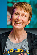 Henham Park, Suffolk, 20 July 2019. British astronaut Helen Sharman - The Dermot O'Leary show for BBC Radio 2 is broadcast from the BBC Introducing stage in the woods. The 2019 Latitude Festival.