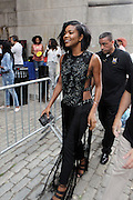 13 September-Brooklyn, New York: (L-R) Actress Gabriel Union and Joiee Thorpe, Essence Fashion Editor attend the Essence Street Style Block Party held at The Dumbo Archway Under the Manhattan Bridge on September 13, 2015 in the DUMBO section of Brooklyn, New York.   (Photo by Terrence Jennings/terrencejennings.com)