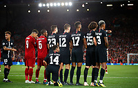 Football - 2018 / 2019 UEFA Champions League - Group C: Liverpool vs. Paris Saint-Germain<br /> <br /> PSG wall for a free kick at Anfield.<br /> <br /> COLORSPORT/LYNNE CAMERON