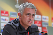 Jose Mourinho Manager of Manchester during the Celta Vigo v Manchester United Press Conference at Balaidos, Vigo, Spain on 3 May 2017. Photo by Phil Duncan.
