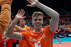 13-09-2019 NED: EC Volleyball 2019 Netherlands - Montenegro, Rotterdam<br /> First round group D Netherlands win 3-0 / Gijs van Solkema #15 of Netherlands
