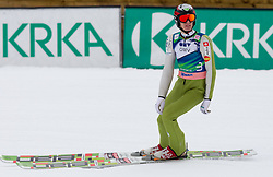 Matjaz Pungertar of Slovenia during Flying Hill Individual Qualifications at 1st day of FIS Ski Jumping World Cup Finals Planica 2011, on March 17, 2011, Planica, Slovenia. (Photo by Vid Ponikvar / Sportida)