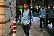 Netherlands forward Justin Kluivert (Ajax Amsterdam), arrives off the team coach before the Friendly match between Netherlands and England at the Amsterdam Arena, Amsterdam, Netherlands on 23 March 2018. Picture by Phil Duncan.