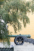 Cannon on display at the Armoury building, Moscow, Russia