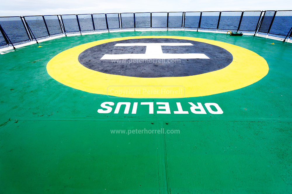 MV Ortelius helipad on Monday 19 February 2018.