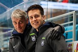 Milan Dragan and Jan Babic during ice hockey match between Slovenia and Lithuania at IIHF World Championship DIV. I Group A Kazakhstan 2019, on May 5, 2019 in Barys Arena, Nur-Sultan, Kazakhstan. Photo by Matic Klansek Velej / Sportida