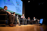 """Ryan Ryzpecki, Founder and CEO of Sobi GPS Bikes during a panel discussion entitled, """"If Not the Auto, the Bike?"""" at the Manhattan Chamber of Commerce's Transportation Transformation Global Summit at NYIT in New York on April 26, 2012."""