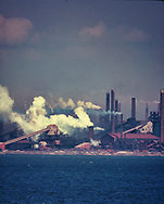 A  Steel plant South of Pittsburgh PA on Ju;ly 1970.<br />Note: Howard Chapnick the owner of Black Star was very concerned about our environment way before many. I thought that Pittsburgh was a good place to go and drove there . I remember seeing this and knew that I had made a good choice.  Giff Hampshire at EPA was the picture editor and purtchased mkany of Black Star's photographs.  I think some were from this trip.  Photo by Dennis Brack