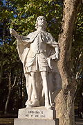 Statues of Spanish monarchs, Plaza de Oriente, Madrid, Spain, King Ordono I