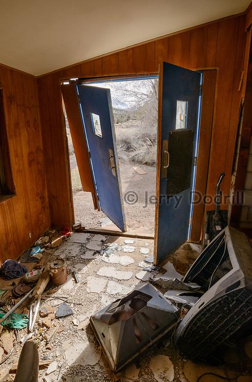 Ruins of the Boundary Peak Motel along US Highway 6, West of Tonopah near the California/Nevada Border.
