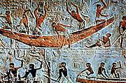 Egyptian boatbuilders: Mastaba (tomb) of Ti, Saqqara. 5th Dynasty.
