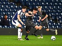Lincoln City U18's Tobias Liversidge turns past West Bromwich Albion U18's Zak Delaney<br /> <br /> Photographer Andrew Vaughan/CameraSport<br /> <br /> FA Youth Cup Round Three - West Bromwich Albion U18 v Lincoln City U18 - Tuesday 11th December 2018 - The Hawthorns - West Bromwich<br />  <br /> World Copyright © 2018 CameraSport. All rights reserved. 43 Linden Ave. Countesthorpe. Leicester. England. LE8 5PG - Tel: +44 (0) 116 277 4147 - admin@camerasport.com - www.camerasport.com