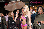 KAT SLOWE; RACHEL HOWARD; SAMANTHA SCARBOROUGH; JENNIFER ROSE BAKER;, Dirty Pretty Things - summer party. Lingerie line hosts  party celebrating its new online shop and showcasing the latest collection. The Lingerie Collective, 8 Ganton Street, Soho. London, 15 June 2011<br /> <br />  , -DO NOT ARCHIVE-© Copyright Photograph by Dafydd Jones. 248 Clapham Rd. London SW9 0PZ. Tel 0207 820 0771. www.dafjones.com.